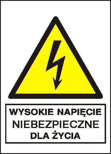 [330-02] -Wysokie napięcie niebezpieczne dla życia