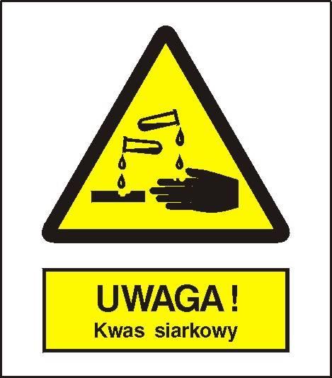 [303-01] - Ostrzeżenie przed kwasem siarkowym