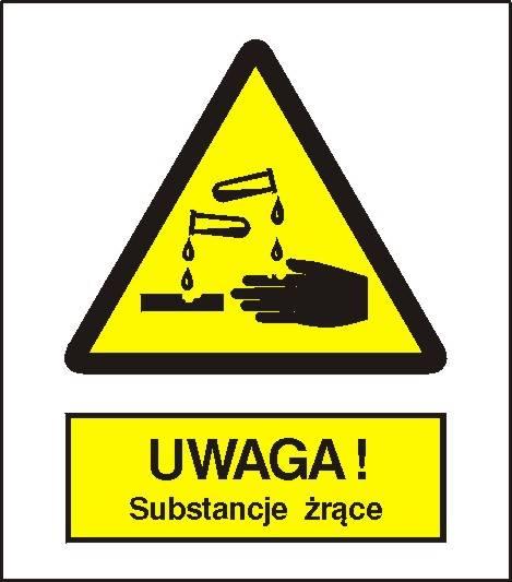 [303] - Ostrzeżenie przed substancjami żrącymi