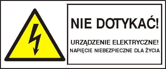 [330-01b] - Napięcie niebezpieczne dla życia!
