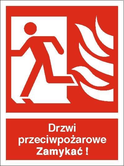 [217-01] - Drzwi przciwpożarowe, Zamykać! (w lewo)