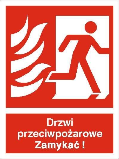 [217-10] - Drzwi przciwpożarowe, Zamykać! (w prawo