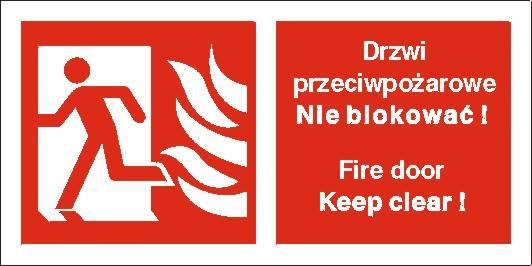 [217-05] - Drzwi przeciwpożarowe. Nie blokować!