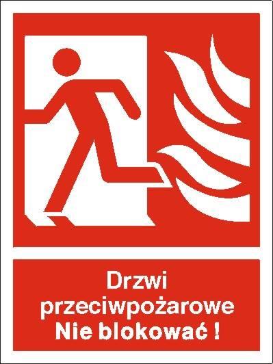 [217-04] - Drzwi przeciwpożarowe. Nie blokować!