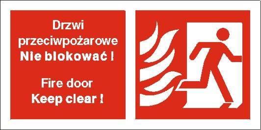 [217-50] - Drzwi przeciwpożarowe. Nie blokować!