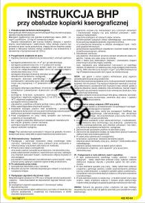 422 XO - 14 Instrukcja BHP przy obsłudze wtryskarek