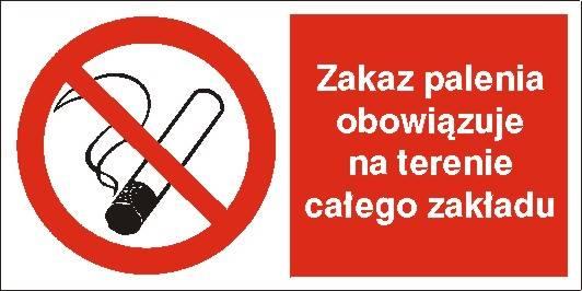[209-01] - Zakaz palenia na terenie całego zakład