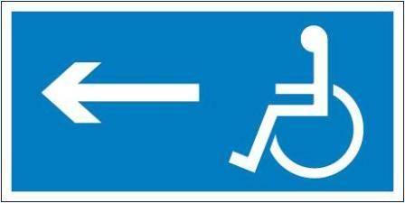 [821] - Kierunek drogi dla inwalidów (w lewo)