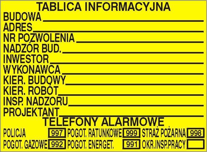 [319] - Budowlana tablica informacyjna