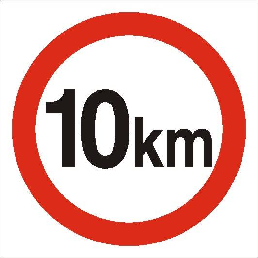 [702-03 ]-Ograniczenie prędkości do 10 km