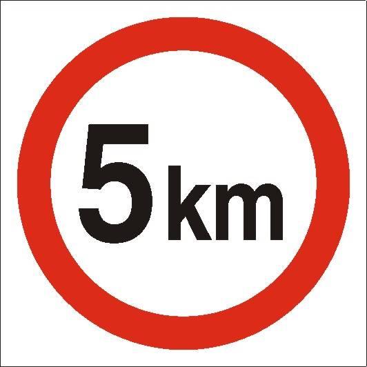 [702-02 ]-Ograniczenie prędkości do 5 km