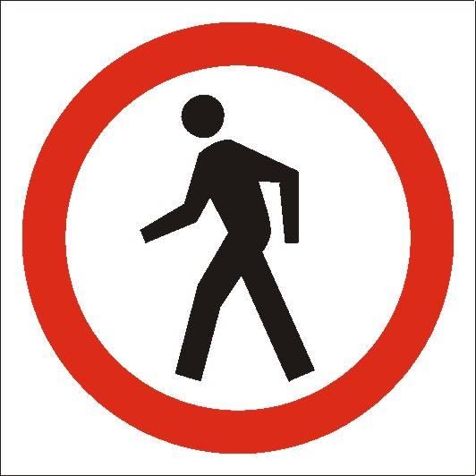 [702-09] -Zakaz ruchu pieszych