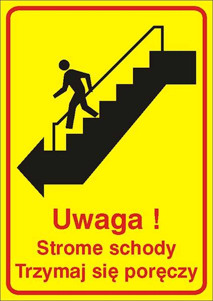 [157] - Uwaga! Strome schody. Trzymaj się poręczy