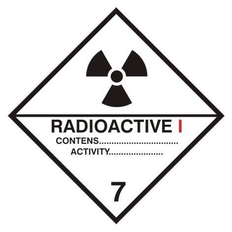 [215-17] - Materiały promieniotwórcze, kategoria I