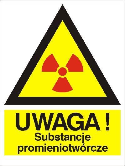 [800-96] - Ostrzeżenie przed sub. promieniotwórczą