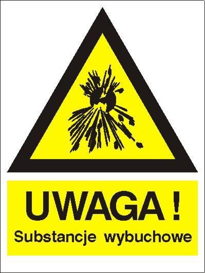 [800-93] - Ostrzeżenie przed sub. wybuchowymi