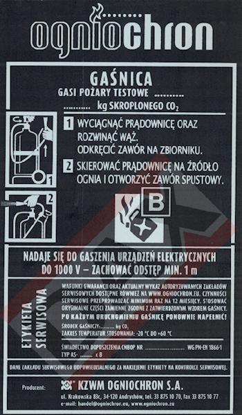 Etykieta serwisowa AS-20/30/50 B