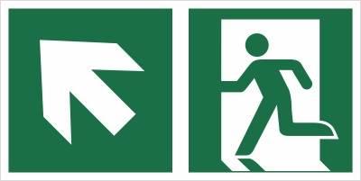 [E01-LG] - Wyjście ewakuacyjne w górę w lewo