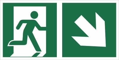 [E02-PD] - Wyjście ewakuacyjne w dół w prawo