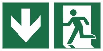 [E01-DD] - Wyjście ewakuacyjne w dół