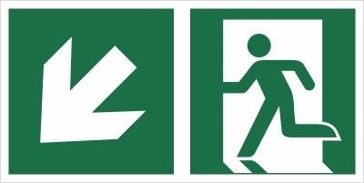 [E01-LD] - Wyjście ewakuacyjne w dół w lewo