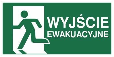 [E01-WE] - Wyjście ewakuacyjne - lewo