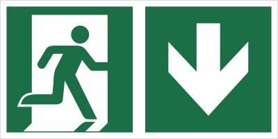 [E02-DD] - Wyjście ewakuacyjne w dół