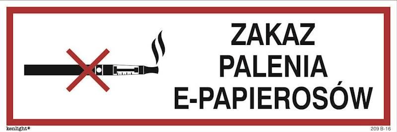 [209-16] - Zakaz palenia e-papierosów