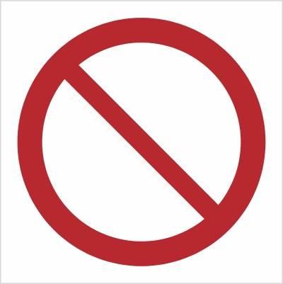 [P01] - Ogólny znak zakazu