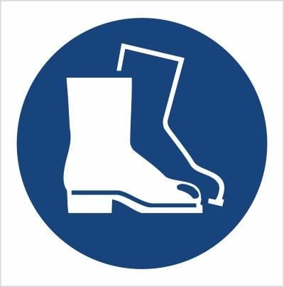 [M08] - Nakaz stosowania ochrony stóp