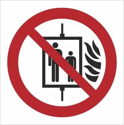 [P20] - Zakaz używania windy w razie pożaru