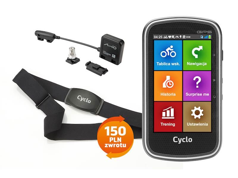 Mio Cyclo 405 HC Europe + komplet czujników