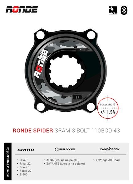 RONDE SPIDER SRAM 3 BOLT 110BCD 4S