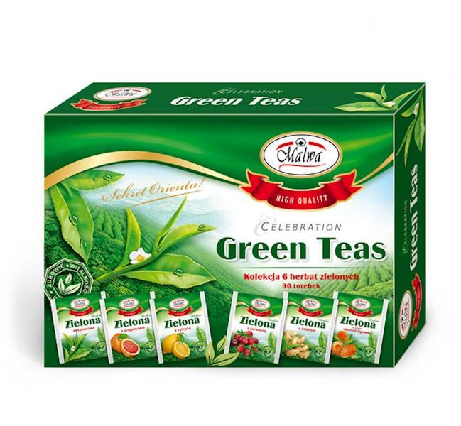 MALWA ZESTAW HERBAT GREEN TEAS 6x5/2g*10