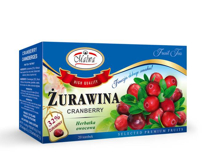 MALWA EX OWOCOWA ŻURAWINA 20/2g*12.
