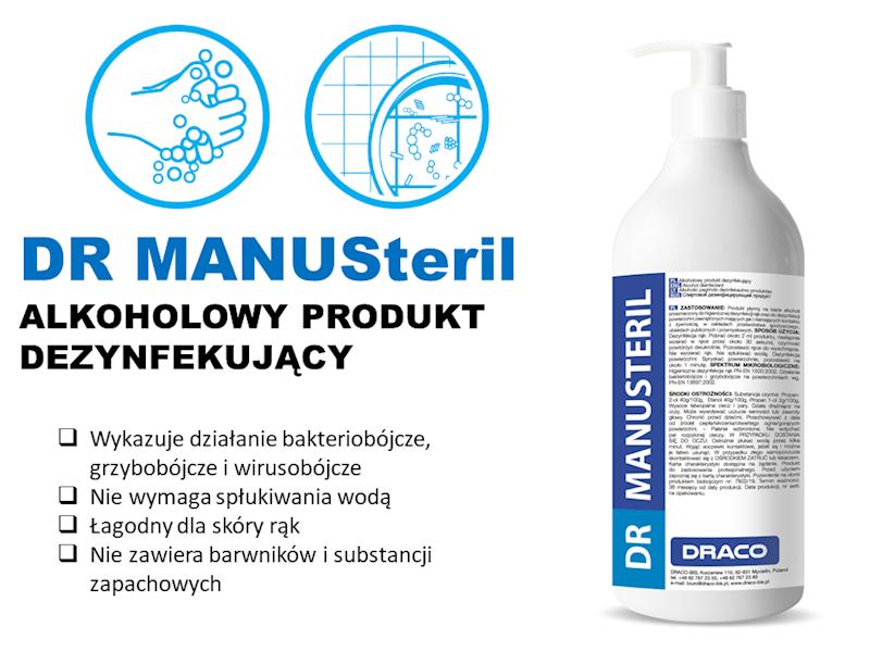 DR MANUSteril Żel antybakteryjny 750ml