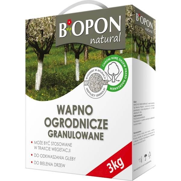 Biopon Wapno ogrodnicze granulowane 3kg
