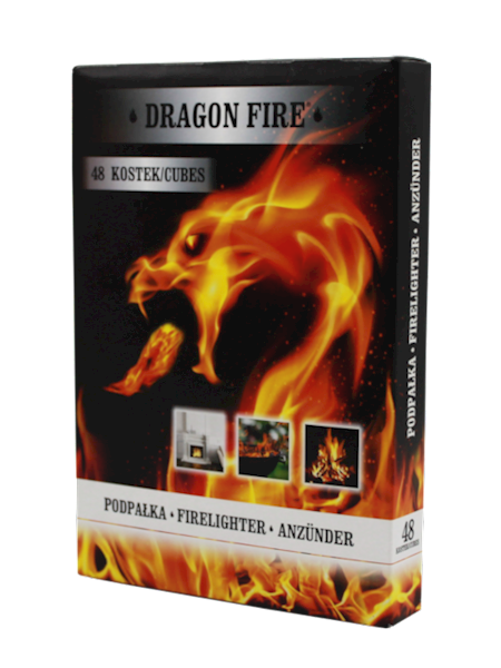 Podpałka Dragon Fire biała 48 kostek