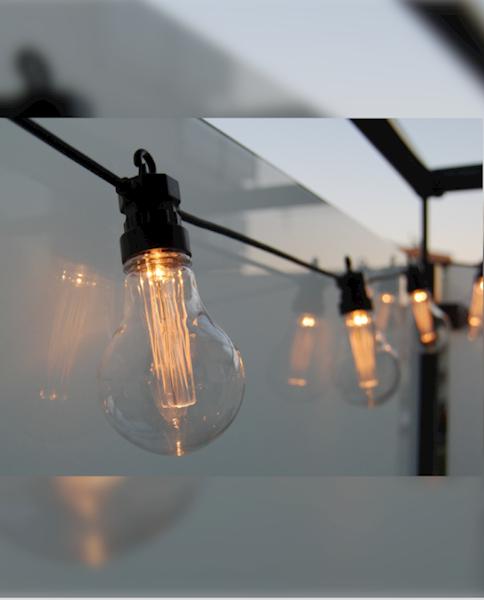 Cortina Lampki ogrodowe 10L na transf + gniazdo
