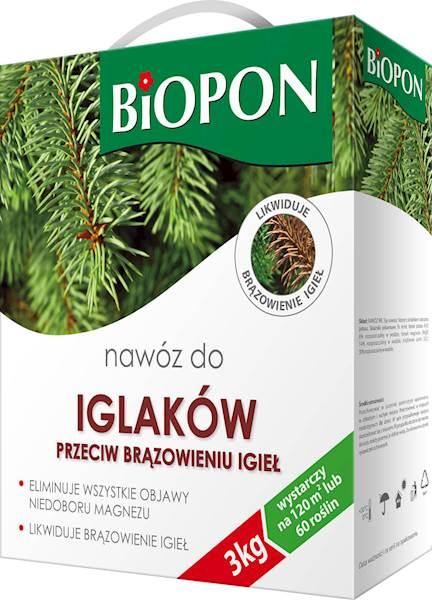 Biopon Nawóz do Iglaków P/brąz 3kg karton