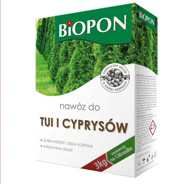 Biopon Nawóz do Tui i Cyprysów 3kg karton