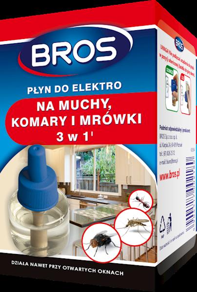 Płyn do Elektro 3 w 1 na muchy, komary i mrówki