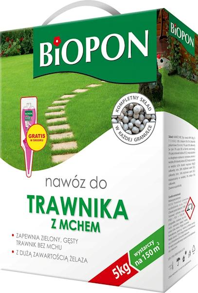 Biopon Nawóz do Traw z mchem 5kg karton