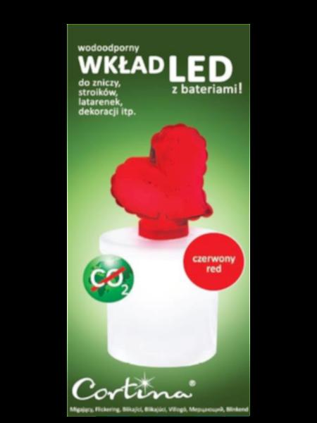 Wkład Serce LED czerwone