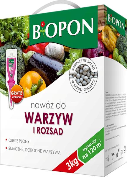 Biopon Nawóz do Warzyw 3kg karton