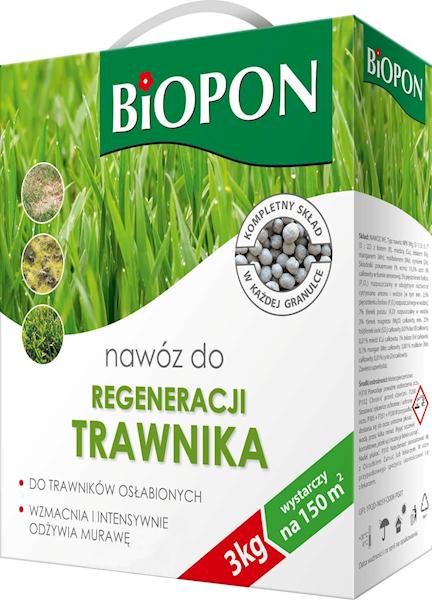 Biopon Nawóz do Traw regeneracja 3kg karton