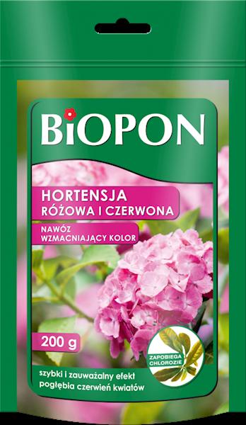 Biopon Nawóz barwiący do Hortensji czerwonej 200 g