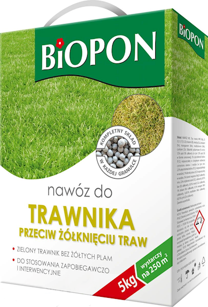 Biopon Nawóz do Traw P/żółknięciu 5kg karton