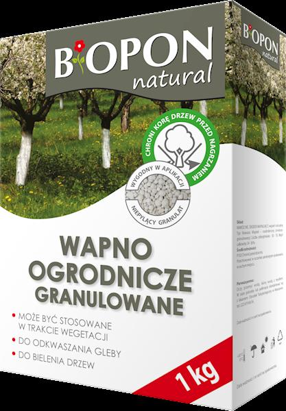 Biopon Wapno ogrodnicze granulowane 1kg