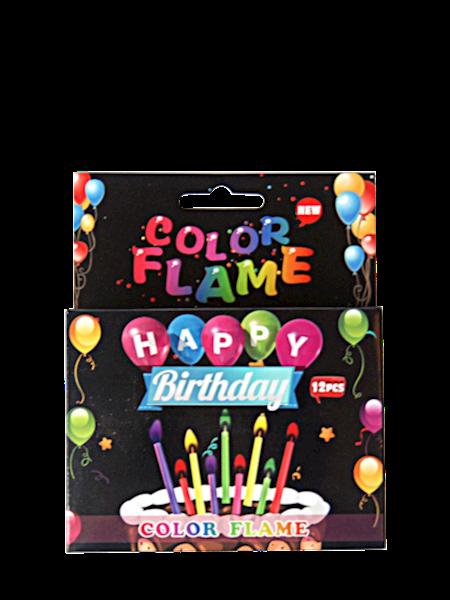 Świeczki tortowe z kolorowym płomieniem